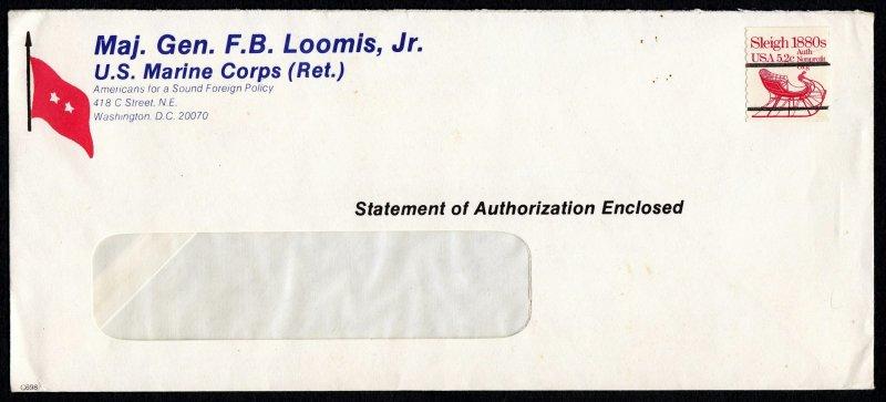 U.S. #1900a This Cover is From the Desk Maj. Gen. F.B. Loomis, Jr.