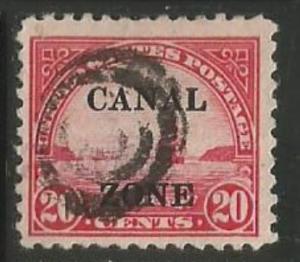 U.S. Scott #92 Canal Zone Stamp - Used Single