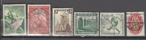 COLLECTION LOT # 2937 GERMANY 6 SEMI POSTAL STAMPS 1926+ CV+$12
