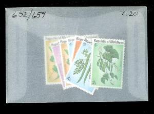 MALDIVES REPUBLIC Sc#652-659 Complete Mint Never Hinged Set