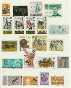 Insects Zebra Soccer Horse Racing Red Cross Lincoln Rwanda MNH** Stamps 13977