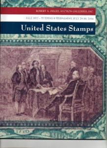 Siegel Auction of US Classic Stamps