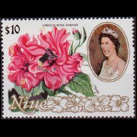 NIUE 1990 - Scott# 594 Flowers Opt. Set of 1 NH