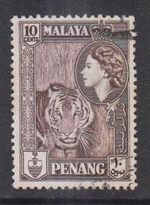 Malaya Penang 1957 Sc 50 10c Used