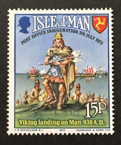 Isle of Man 1973 #28, Postal Independence, MNH.