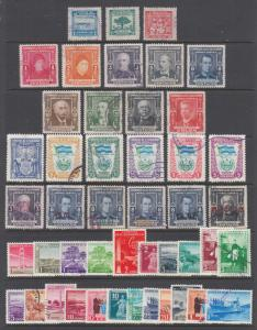 Salvador Sc 593/C129 used. 1946-54 issues, 5 complete sets, sound