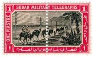 (I.B) Sudan Telegraphs : Military Telegraphs 1pi