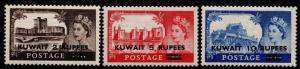 $KUwait Sc#117-119 M/LH/VF, complete set, CV. $33