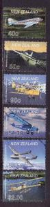 New Zealand-Sc#1714-19-used set-Planes-Aircraft-2001-