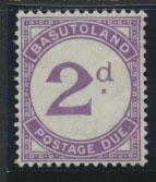 Basutoland  Postage Due  SG D2  spacefiller - Mint - faults see details