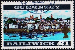 Guernsey. 1969 £1 S.G.28a Fine Used