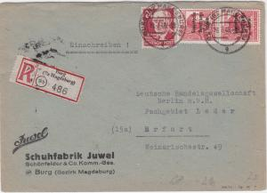 Russian Occupied Germany 1949 Berg to Brfurt  stamps cover R20770
