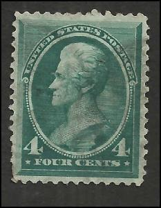 # 211 Blue Green Used FAULT Andrew Jackson