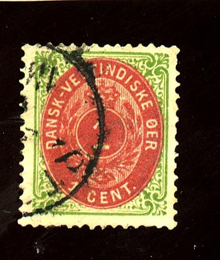 Danish W Indies #5 Used F-VF Cat $30