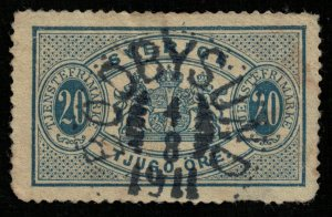 Sweden, 1889 - 1891, Coat of Arms, (3169-T)