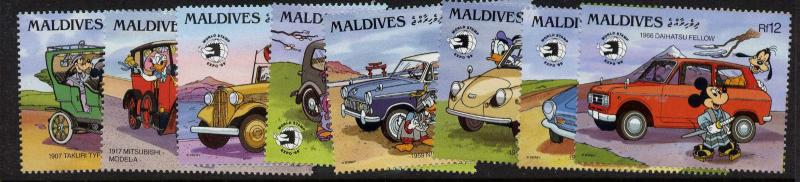 Maldives 1346-53 MNH Disney, Vintage Cars