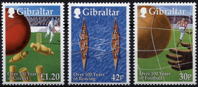 Gibraltar. 1999. Sports Throughout 100 Years  (MNH OG) set of 3 stamps