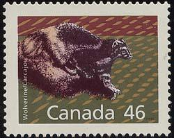 Canada - USC #1172Ag 46c Wolverine Perf. 14.4 X 13.8 VF-NH mint
