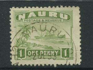 Nauru - Scott 18 - Pictorial Definitive Issue- 1924 - VFU- Single 1p Stamp