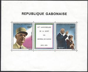 Gabon #C242a MNH Souvenir Sheet General De Gaulle