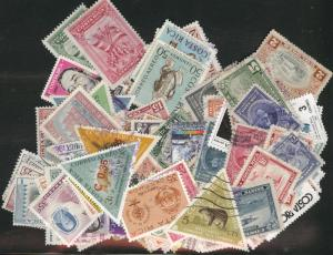 Costa Rica Packet of 100 different used stamps