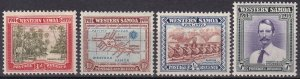Samoa #181-4  F-VF  Unused  CV $6.45  (Z6937)