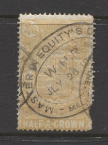 STAMP STATION PERTH Victoria #AR7 Inscribed Stamp Statute Used 2/6p