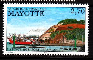Mayotte MNH Scott #92 2.70fr Longoni Port