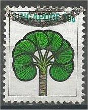 SINGAPORE, 1973, used 20c, Stylized flowers, Scott 193
