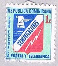 Dominican Republic Comunications 1c lt green - pickastamp (AP103829)