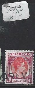 SINGAPORE  (P1404BB)  KGVI  35C  SG 25A   VFU
