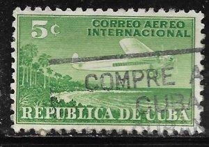 Cuba C4: 5c Airplane and Coast of Cuba, used, F-VF