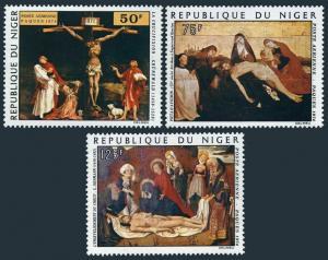 Niger C232-C234,MNH.Michel 423-425. Matthias Grunewald,Pietta d'Avignon,Isenmann