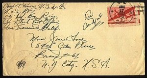 GILBERT & ELLICE IS WW2 1943 cover US Forces at FUNAFUTI ..................98928