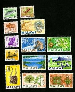 Malawi Stamps # 5-17 VF OG LH