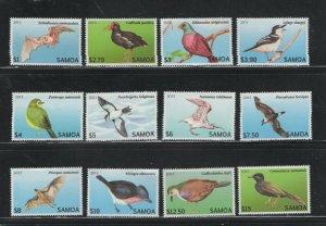 Samoa #1142-53 (2013 Bats and Birds Definitive set)  VFMNH CV $68.60