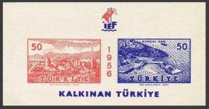 Turkey 1212 ab sheet,MNH.Michel 1484-1485 Bl.7. 25th Fair,Izmir,1956.