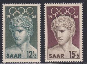 Saar # B109-110, Melbourne Summer Olympics, NH Set