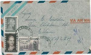 ARGENTINA - POSTAL HISTORY: COVER to ITALY 1953 . EVITA