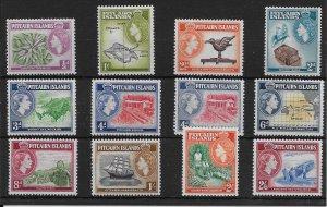 PITCAIRN ISLANDS SG18/28 1957-63 DEFINITIVE SET OF 12 MNH