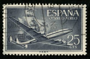 Air mail Spain, 25 Cts (2962-т)