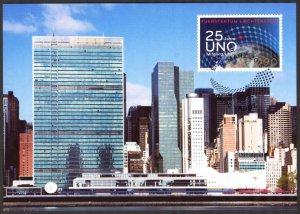 Liechtenstein 2015 25 Years UNO Maxi Card FDC