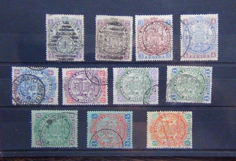 Rhodesia 1896 - 97 valeurs to 5s d'occasion