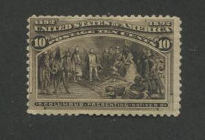 1893 US Stamp #237 10c Mint Fine Regummed Catalogue Value $240