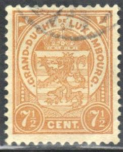 LUXEMBOURG SC# 81 **USED** 1919 7.5c COAT OF ARMS  SEE SCAN