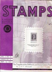 Stamps Weekly Magazine of Philately September 23, 1933 Stamp Collecting Magazine