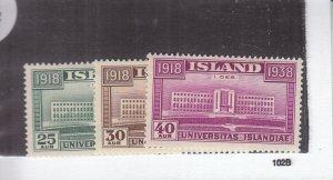 Iceland: Sc #209-211, MH (S18982)
