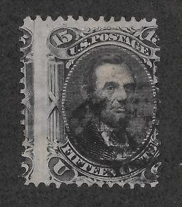 77 Used, 15c. Lincoln, Misperfed, scv: $170,  Free Insured Shipping