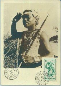 68731 - MADAGASCAR - Postal History - MAXIMUM CARD 1954 - ETHNIC
