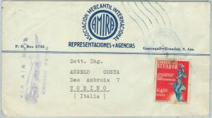 67219 - ECUADOR - Postal History - AIRMAIL COVER to ITALY  1966
